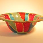 cone-shape bowl - Spiral on Butterscotch