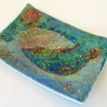 "12"" x 17"" fused glass platter"