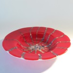 Fused glass pasta bowl