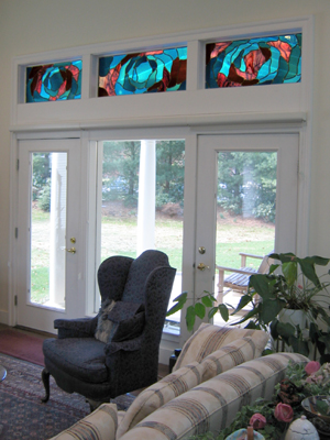 Wenzel stained glass installation