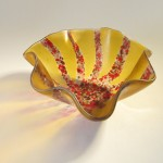 Kiln-formed bowl using Starfire drape mold