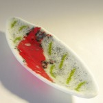 Fused glass olive dish