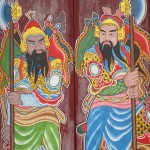 Hindu temple door paintings