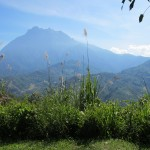 Mount Kinabalu from highway rest area