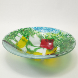 kiln-formed serving bowl
