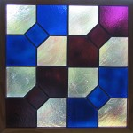 Stained glass quilt block
