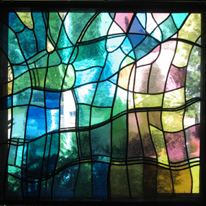 Three-layer stained glass